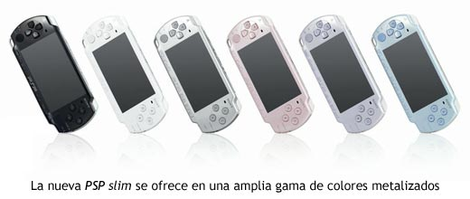 Los nuevos colores de PSP slim