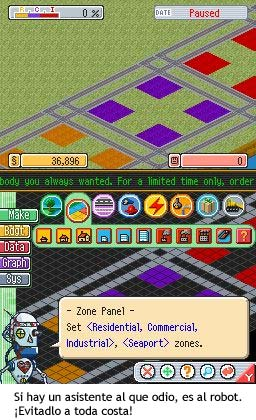 SimCity DS - Asistente robot