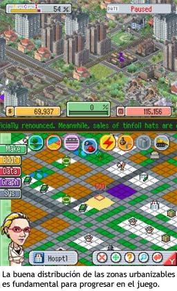 SimCity DS - Urbanizando la ciudad