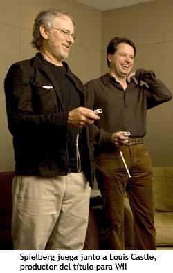 Spielberg juega a la Wii junto a Louis Castle