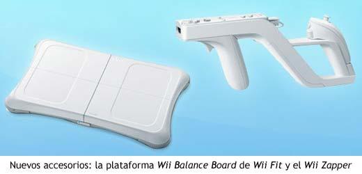 Wii Balance Board de Wii Fit y Wii Zapper