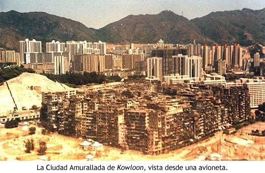 Vista lateral de Kowloon