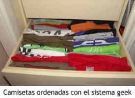 Sistema geek de clasificación de camisetas