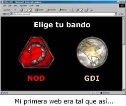 Mi primera web de Command & Conquer era más o menos así