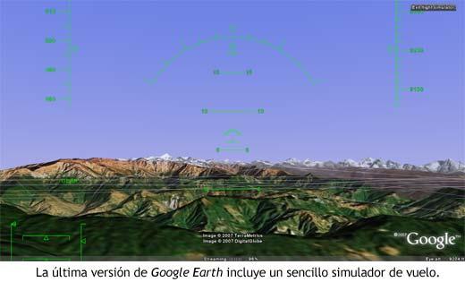 El simulador de vuelo de Google Earth