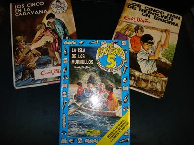 Varios libros de Los Cinco