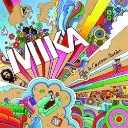 Carátula del album de Mika Life in Cartoon Motion