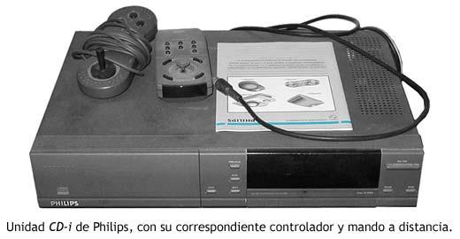 Unidad CD-i de Philips con gamepad controlador y mando a distancia