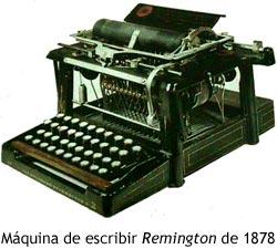 Máquina de escribir Remington de 1878