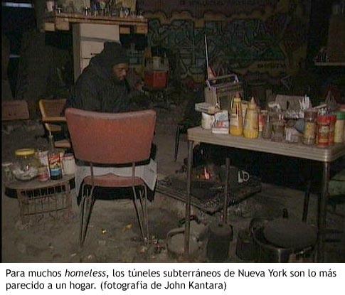 Habitante de los túneles de Nueva York - Fotografía de John Kantara