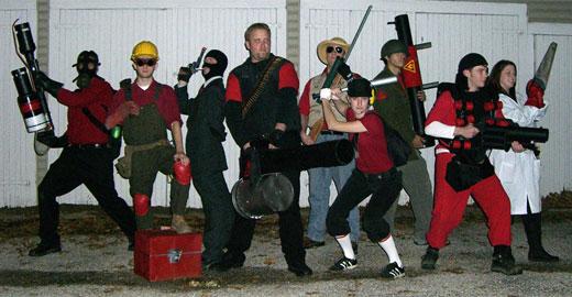 Disfraz de Halloween: Grupo de Team Fortress 2