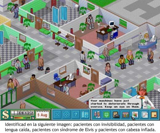 Theme Hospital - Pacientes con diversas enfermedades