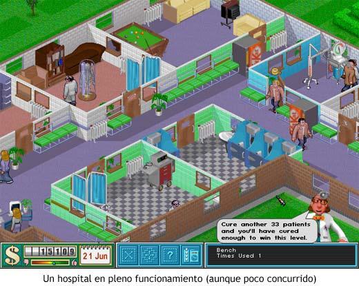 Theme Hospital - Hospital en pleno funcionamiento