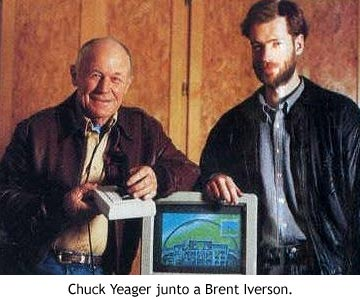 Chuck Yeager y Brent Iverson