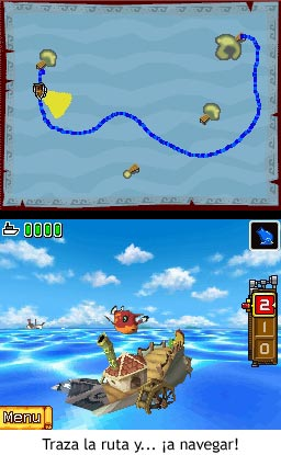 Zelda Phantom Hourglass - Traza la ruta y ¡a navegar!