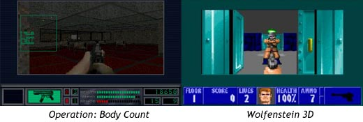 Comparativa entre Operation Body Count y Wolfenstein 3D