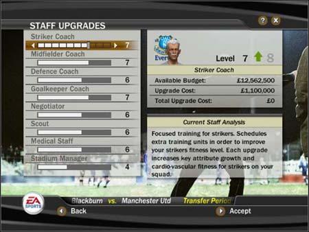 FIFA 08 - Interfaz jugadores