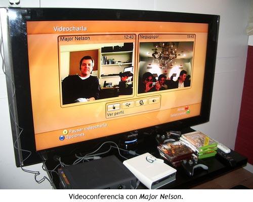 Videoconferencia con Major Nelson