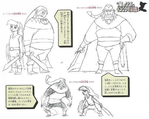 Algunos bocetos de Ganondorf