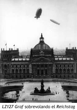 LZ127 Graf sobrevolando el Reichstag