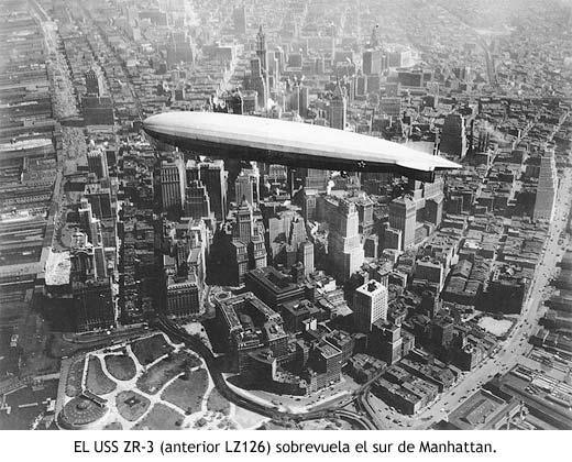 Zeppelin USS ZR-3 sobrevolando Manhattan