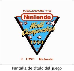 Nintendo World Championships - Pantalla de título