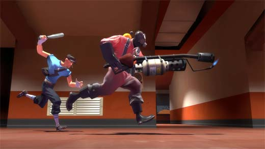 Team Fortress 2 - Scout y Pyro