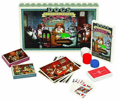 Juego de póquer de perros
