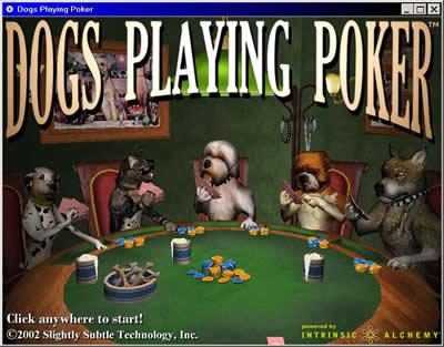 Perros Jugando Al Poquer Ion Litio