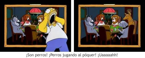 Perros jugando al póquer - Los Simpson 01