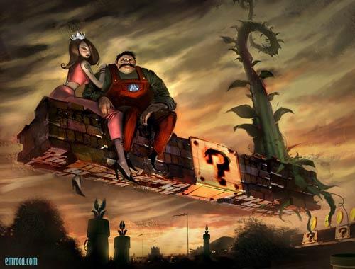 Mario Bros. visto por Emroca