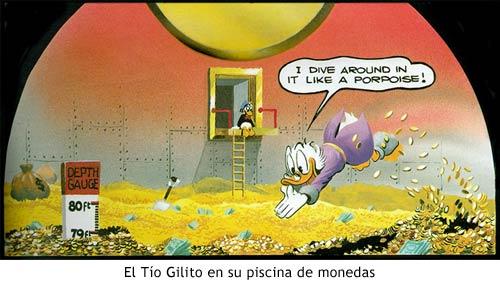 Patoaventuras - El Tío Gilito en su piscina de monedas
