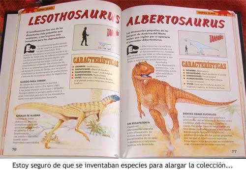 Dinosaurios - Una de las páginas de la enciclopedia