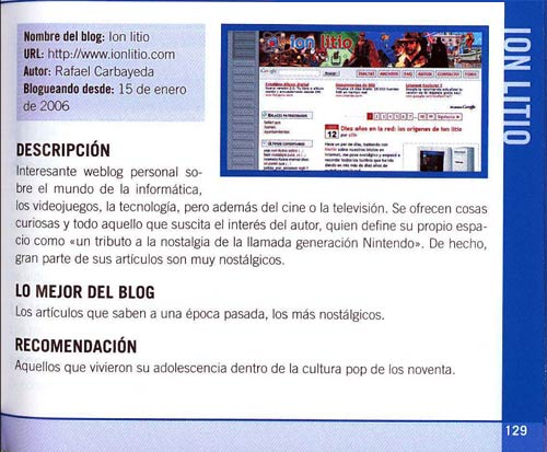 La gran guía de los Blogs 2008 - ion litio