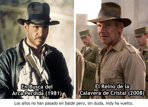 Indiana Jones 4 - Envejecimiento de Harrison Ford