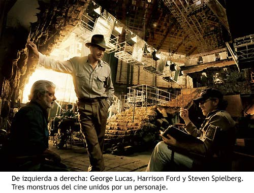 Indiana Jones 4 - George Lucas, Harrison Ford y Steven Spielberg