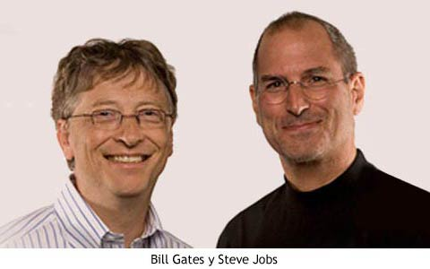 Bill Gates y Steve Jobs