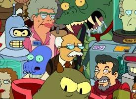 Pósters con todos los personajes de 'Los Simpson' y 'Futurama'