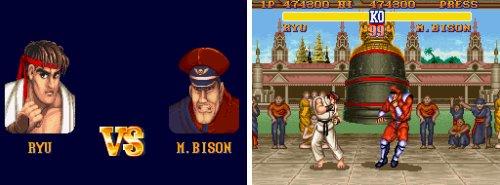 Los jefes de 'SFII' - Ryu Vs. M. Bison