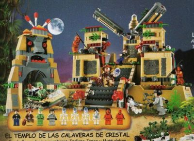 Catálogo de juguetes - El Templo de las Calaveras de Cristal de Lego