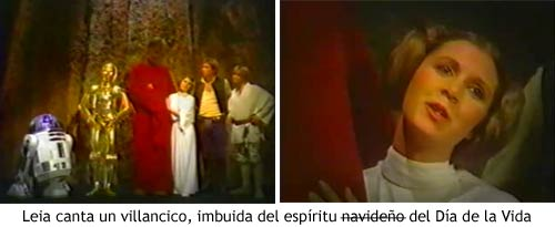 Star Wars Holiday Special - Leia cantando un villancico