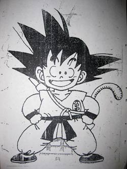 Fotocopias de Dragon Ball - Goku