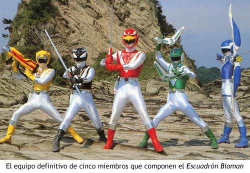 Bioman - Escuadrón definitivo de cinco miembros