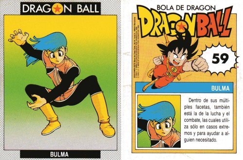 Cromos Dragon Ball - Bulma