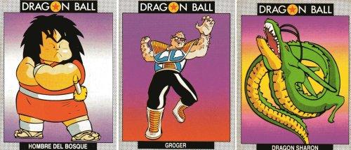 Cromos Dragon Ball - Yajirobe y Dodoria