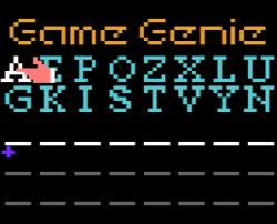 Game Genie - Pantalla de introducción de códigos