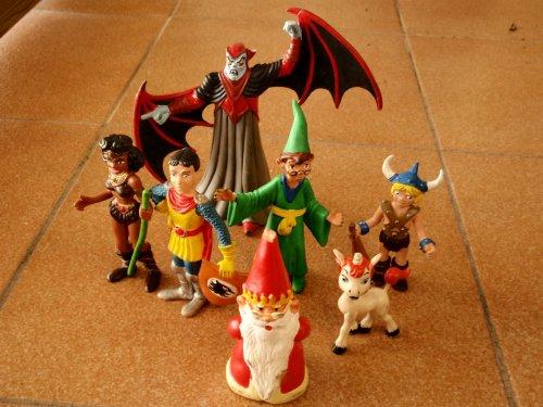 Muñecos de goma - Dragones y Mazmorras