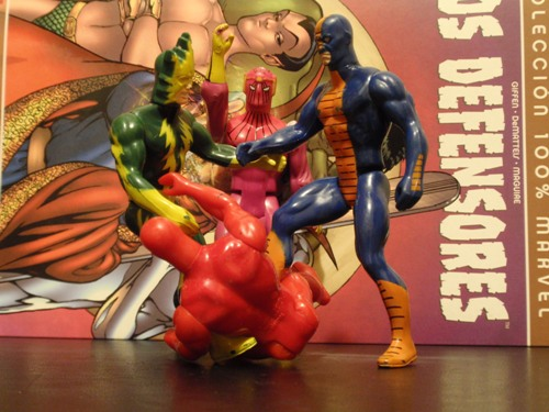 Superhéroes Marvel Secret Wars - Dando una paliza a Daredevil