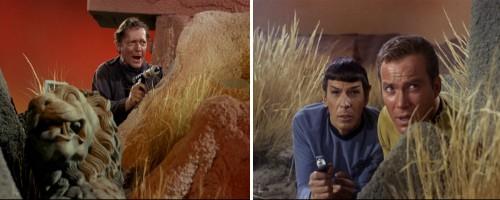 Star Trek: La trampa humana - Crater y Spock y Kirk al acecho