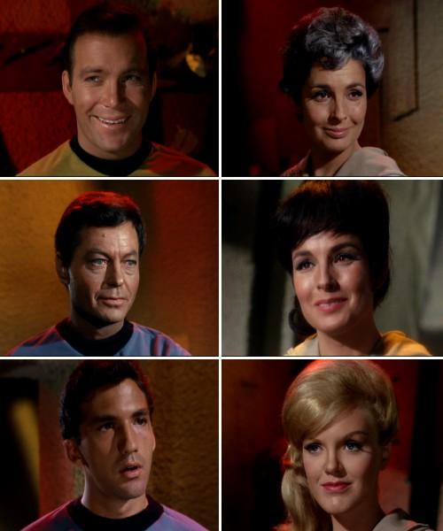 Star Trek: La trampa humana - Los tripulantes y Nancy